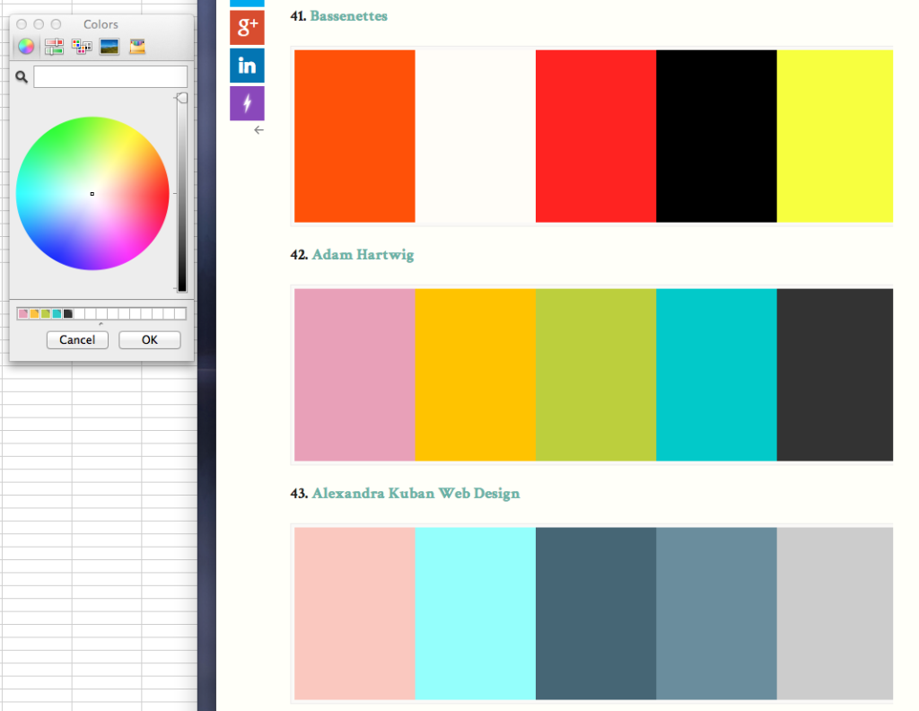 Hartwig's Color Palette Shows on My Color Swatch boxes!