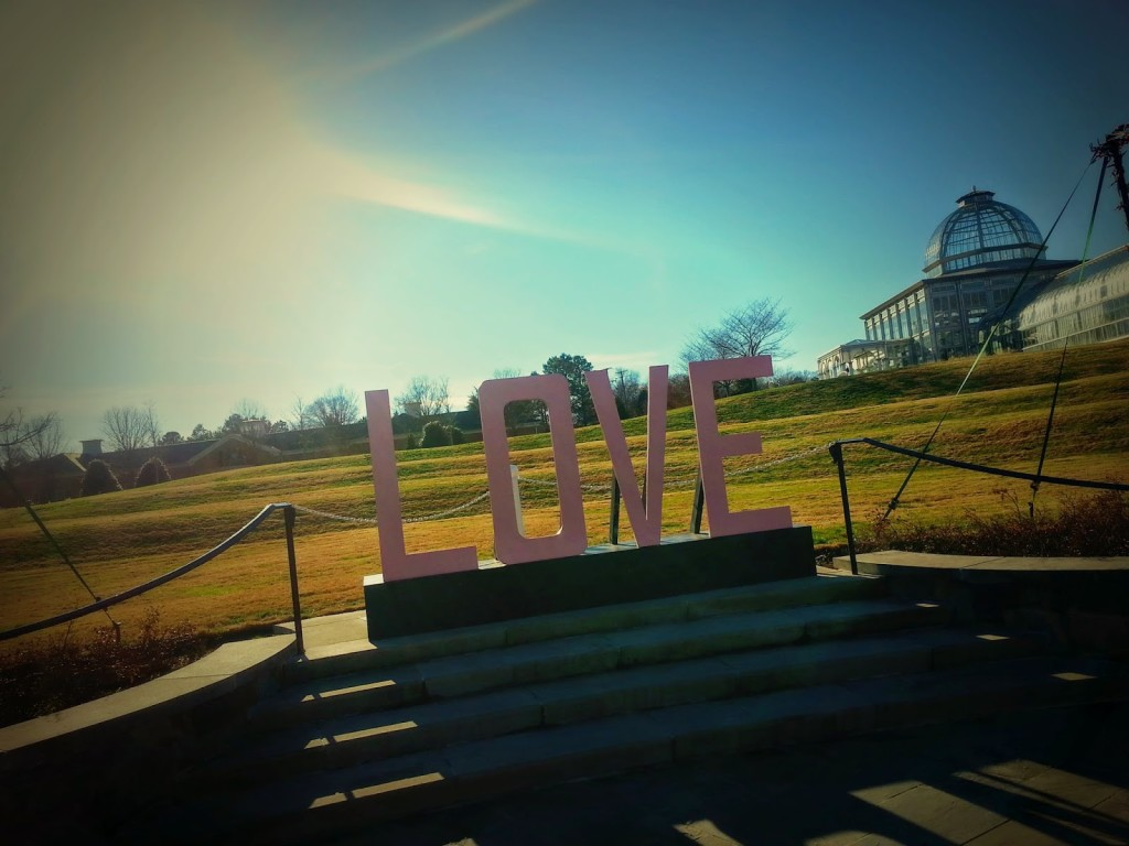 Love sign, Lewis Ginter Park, Richmond, VA