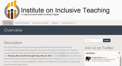 2015 Institute on Inclusive Teaching