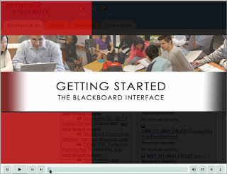 Captivate tutorial on Getting Started with Blackboard