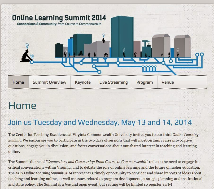 Online Learning Summit 2014 homepage
