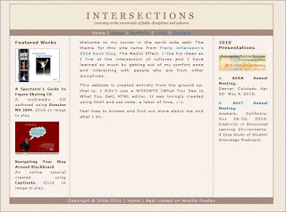 Intersections website I coded from scratch 2006