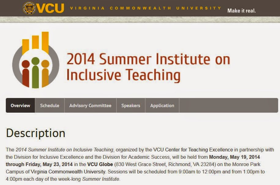 2014 Summer Institute on Inclusive Teaching Homepage
