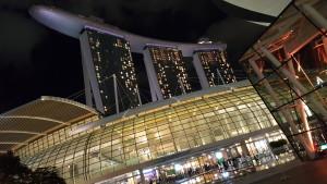 ArtScience Museum in the night, Singapore