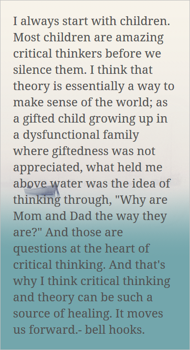 bell hooks on theory as a place of healing