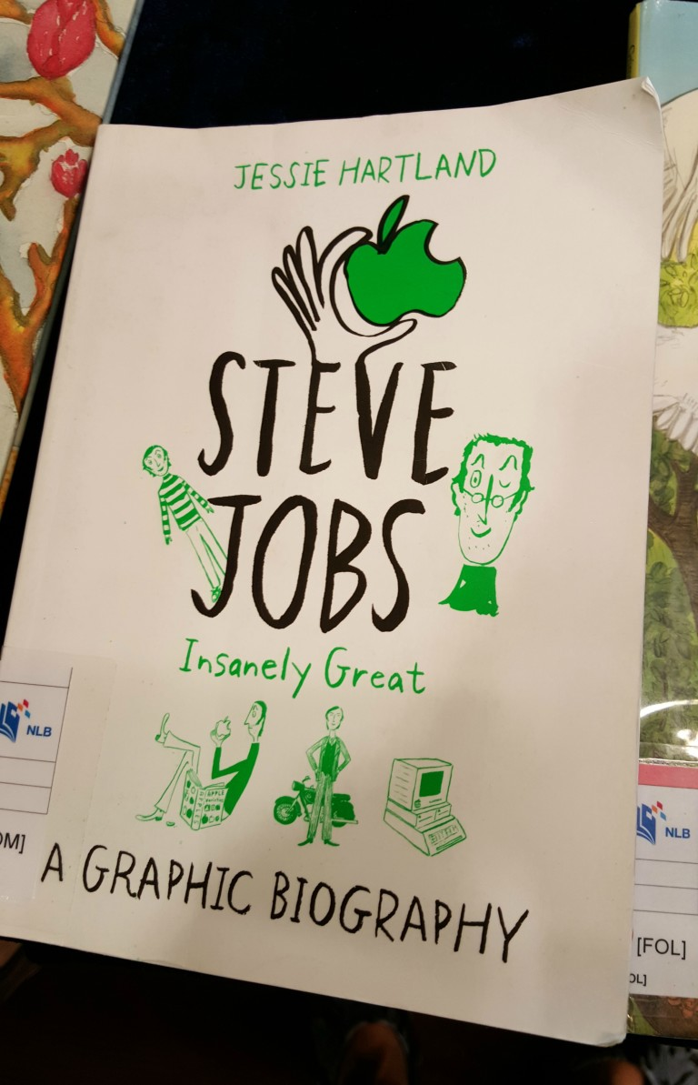 Book cover of graphic novel about Steve Jobs by Jessica Hartland